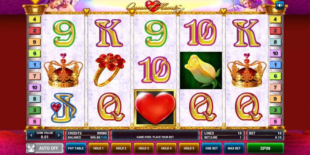Slot from Novomatic - Queen of Hearts Deluxe