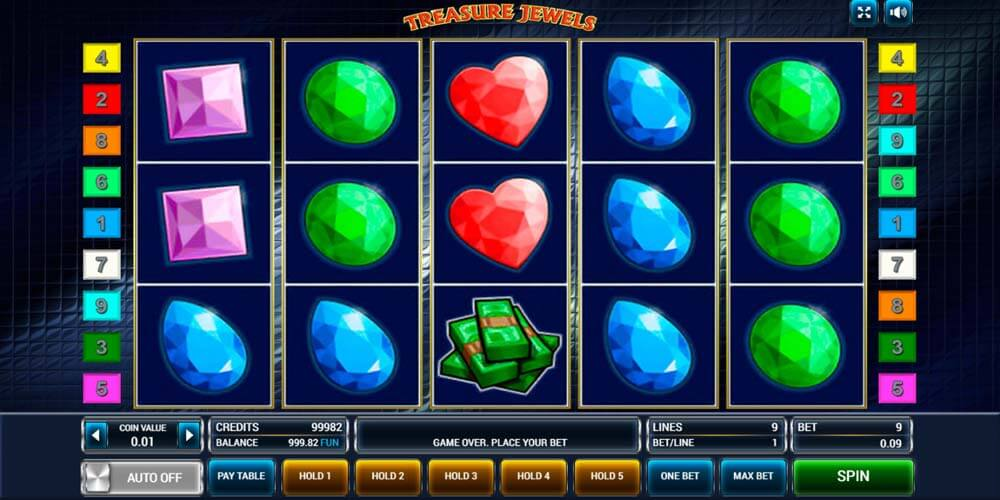Slot from Novomatic - Treasure Jewels